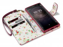 CaseBoutique Flower Bookcase - Sony Xperia XA2 hoesje