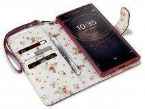 CaseBoutique Flower Bookcase - Sony Xperia XA2 Ultra hoesje