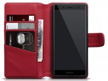 CaseBoutique Rood Leer - Xperia XZ2 Compact Hoesje