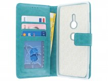Bookcase Wallet Turquoise - Sony Xperia XZ2 hoesje