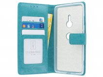 Book Case Wallet Turquoise - Sony Xperia XZ3 hoesje