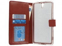 Wallet Book Case - Sony Xperia C5 Ultra hoesje (Bruin)