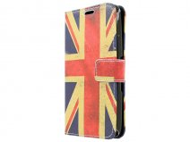 Vintage GB Flag Book Case Hoesje voor Sony Xperia E4