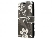 White Flowers Book Case Hoesje voor Sony Xperia E4