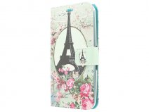 Retro Paris Book Case Hoesje voor Sony Xperia E4g