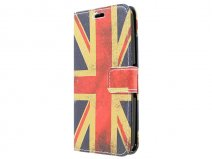 Vintage GB Flag Book Case Hoesje voor Sony Xperia E4g