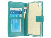 Wallet Bookcase Turquoise - Sony Xperia L1 hoesje