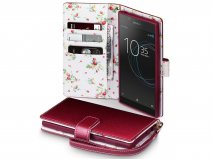 CaseBoutique Flower Bookcase - Sony Xperia L1 Hoesje