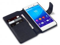 CaseBoutique Leather Wallet Case - Hoesje voor Sony Xperia M4 Aqua
