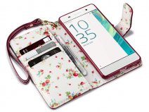 CaseBoutique Floral Bookcase - Sony Xperia XA hoesje
