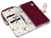 CaseBoutique Flower Bookcase - Sony Xperia XA1 Ultra Hoesje