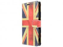 Vintage GB Flag Book Case Hoesje voor Sony Xperia Z3 Plus