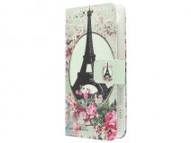 Retro Paris Book Case - Sony Xperia Z5 Compact hoesje