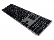 Matias Wireless Aluminium Backlit Keyboard (Space Grey)
