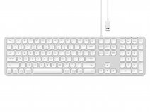 Satechi Aluminum Wired USB Keyboard QWERTY (Silver)