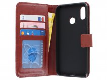 Book Case Wallet Bruin - Honor 10 Lite hoesje