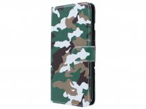 Camouflage Book Case - Honor 10 Lite hoesje