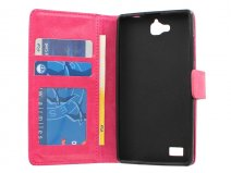 Wallet Book Case Hoesje voor Honor 3C