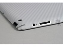 Bodyguardz Carbon Back Protector voor iPad 2 & 3 (Wit)