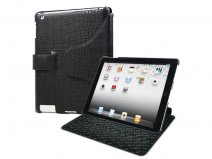 Muvit 2-in-1 Snow Clip Croco Leren Case iPad 2
