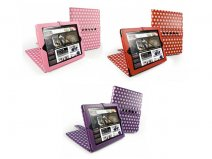 Tuff-Luv Multi-View Polka-Hot Case Hoes iPad 2, 3 & 4