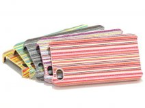 Colorful Stripes Back Case Hoes voor iPhone 4/4S