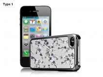 Deluxe Blossom Hard Case Hoes voor iPhone 4/4S