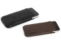 Knomo Leather Slim Sleeve voor iPhone 4/4S