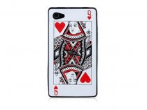 Poker Silicone Skin Case Hoes voor iPhone 4