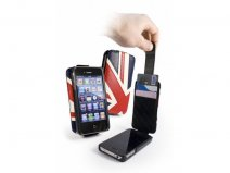 Tuff-Luv Great Brittain Flag Leather Case voor iPhone 4/4S