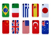 World Flags Back Case Hoesje Cover voor iPhone 4