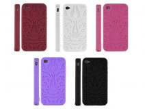 Tiki Series Silicone Skin Case Hoes voor iPhone 4