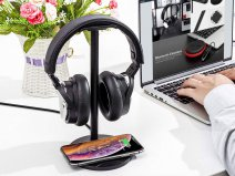 Wireless Charging Headphone Stand met Qi Draadloze Oplader