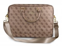 Guess 4G Monogram Laptop Bag Bruin - Laptoptas tot 15 inch