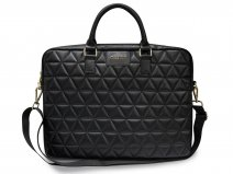 Guess Quilted Laptop Bag Zwart - Laptoptas tot 15 inch