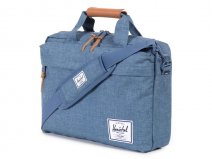 Herschel Clark Messenger Laptoptas tot 15 inch (Navy Crosshatch)
