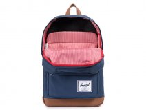 Herschel Pop Quiz BackPack Rugzak met 15 inch Laptopvak (Navy/Tan)