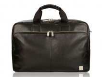 Knomo Amesbury Double Zip Brief - Leren Laptoptas tot 15 inch (Zwart)