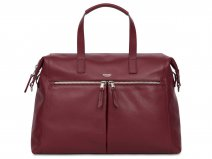 Knomo Audley Tote Rood Leer - 14 inch Dames Laptoptas