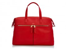 Knomo Audley Leather Tote Laptoptas tot 14 inch (Rood)