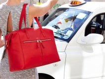Knomo Curzon Laptoptas Leather Shoulder Tote (Rood)