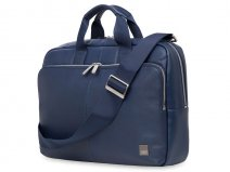 Knomo Newbury Brief - Leren Laptoptas (15 inch) Navy