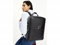 Tommy Hilfiger Business Backpack Zwart - Laptop Rugzak Leer