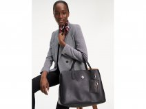 Tommy Hilfiger Charming Work Bag + Laptopsleeve (Zwart)