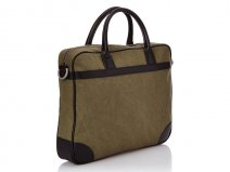 Tommy Hilfiger Patrick Laptop Bag Olive - Laptoptas tot 14 inch