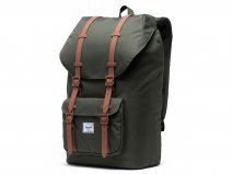 Herschel Supply Co. Little America Rugzak - Dark Olive Saddle Brown