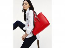 Tommy Hilfiger Honey Medium Tote met Laptopsleeve (Barbados Cherry)