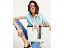 Tommy Hilfiger Honey Medium Tote met Laptopsleeve (Bright White)
